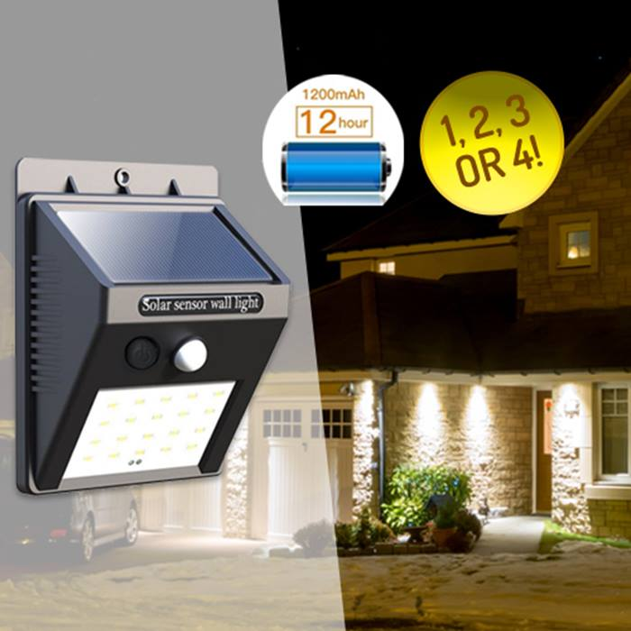 Outdoor Garden Security Lights - 1-4 Lights