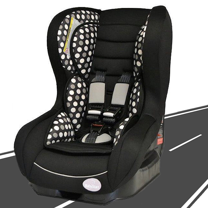 Babystart-Nania-Fairway-Group1-Car-Seat-Black-Dots