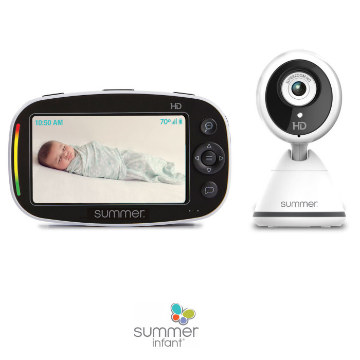 Summer Infant Baby Pixel Zoom HD Digital Video Baby Monitor & Camera - White & Black