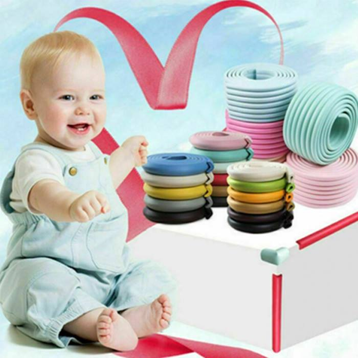 2m Baby Safety Bumper Tape - 18 Colours & 4 Pack Options!