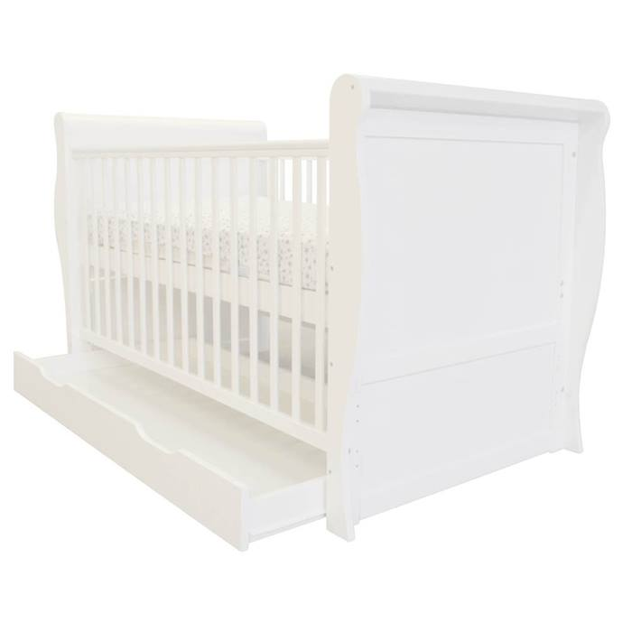 Cuddles Collection Mini Sleigh Cot Bed