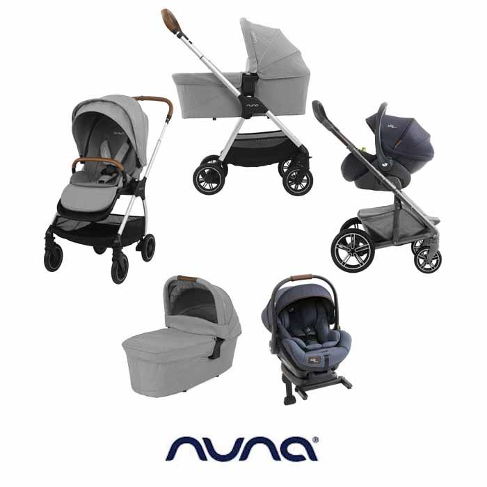 Nuna Triv ILevel Travel System ISOFIX Base Carrycot Frost Grey