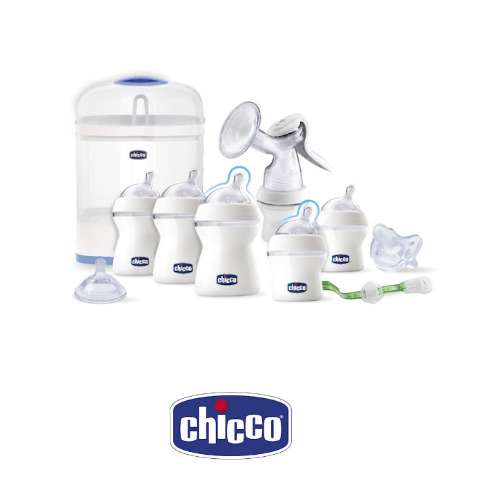 Chicco Starter Set with Steriliser Breast Pump  Bottles