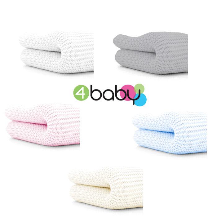 4baby Soft Cotton Cellular cot -  Blanket
