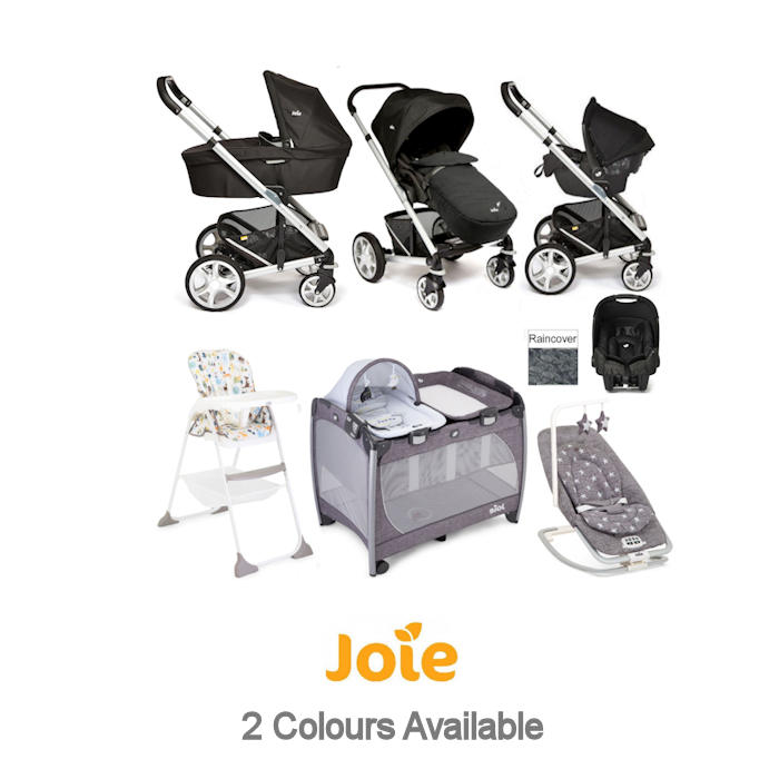 Joie Chrome Plus Everything You Need Gemm Travel System With Carrycot Bundle