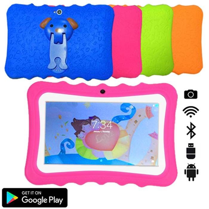 7 Inch Kids SmartPad Android Tablet with Ergonomic Case - 4 Colours