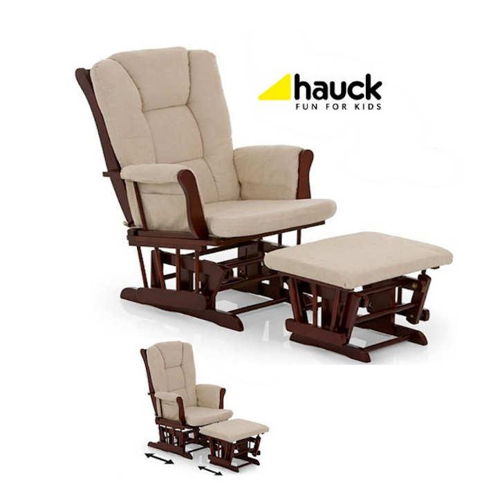 Hauck Glider Nursing Chair walnut 2