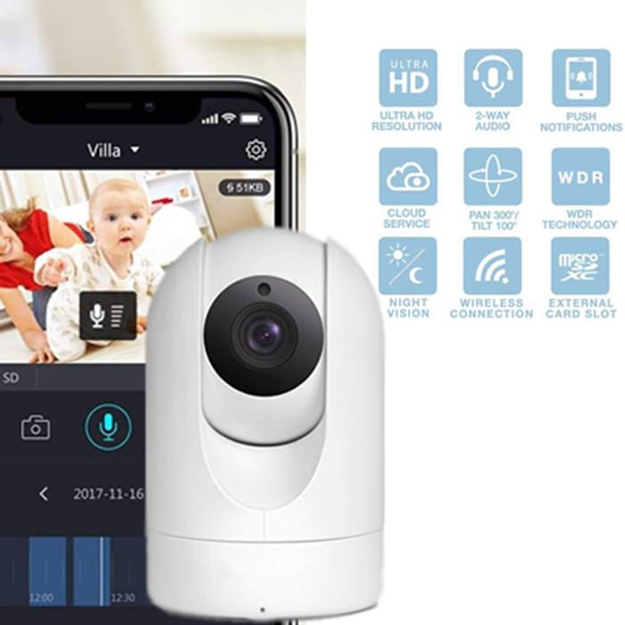 HD Cloud Wireless IP Camera - 2 Resolution Options With Optional 32GB SD Card