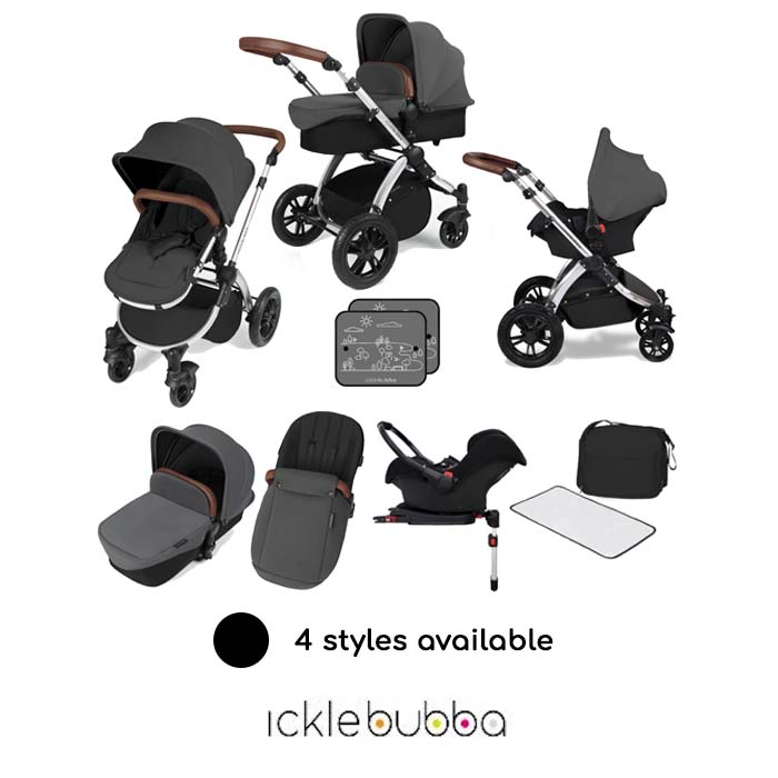 Ickle bubba Stomp V3 All In One Travel System & Isofix Base