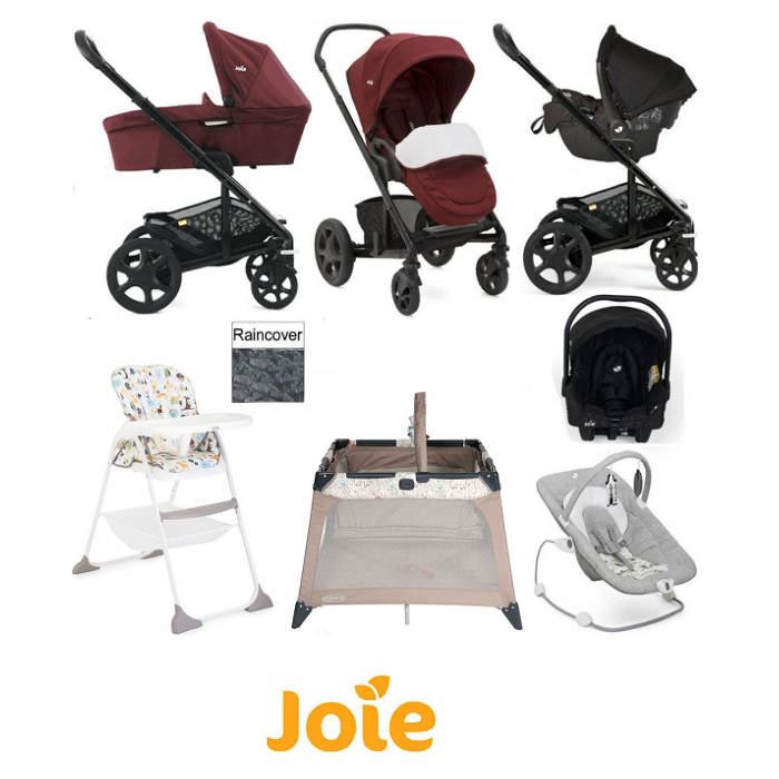 Joie Chrome DLX Gemm Travel System Bundle