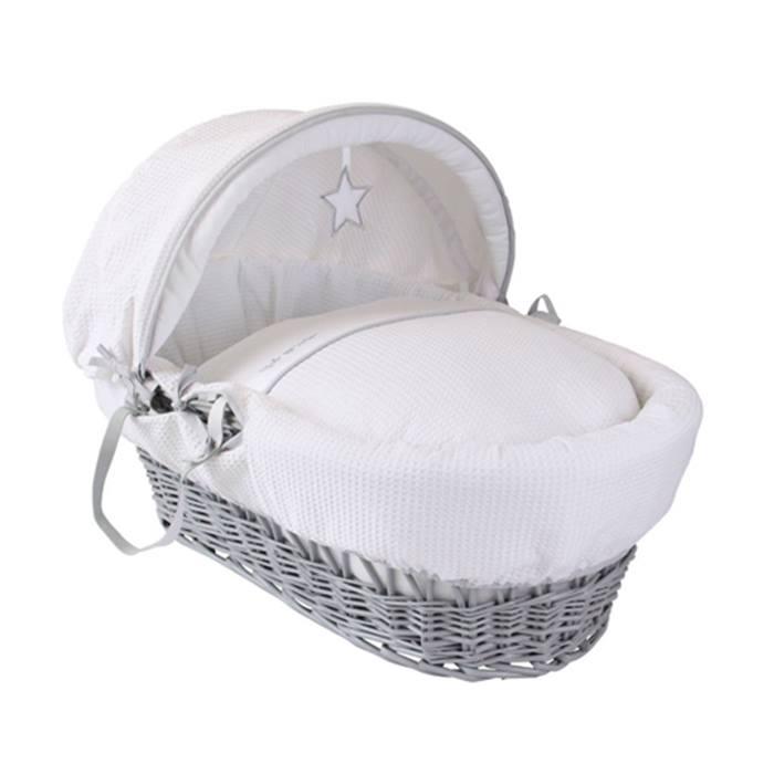 Clair de Lune White Wicker Moses Basket