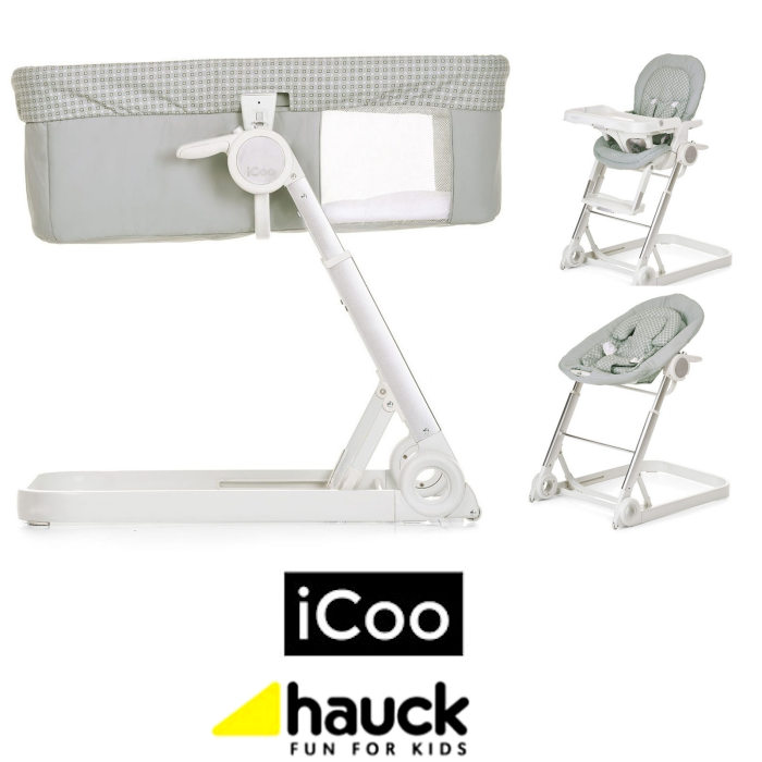 Hauck Icoo Grow With Me 3 in 1 Crib / Highchair / Rocker