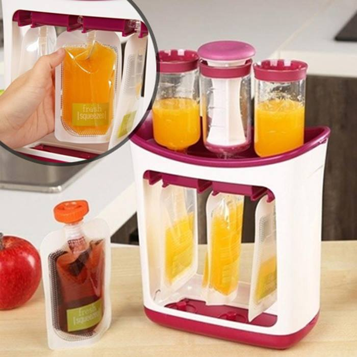 Baby Food Storage Bags with Optional Baby Food Maker