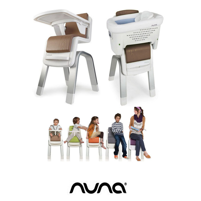 Nuna Zaaz 3 in 1 Highchair Lowchair & Side Crib - Almond