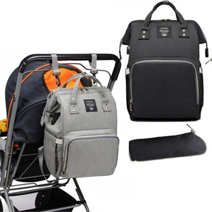 Large Capacity Mummy Backpack with USB Port - 2 Colours