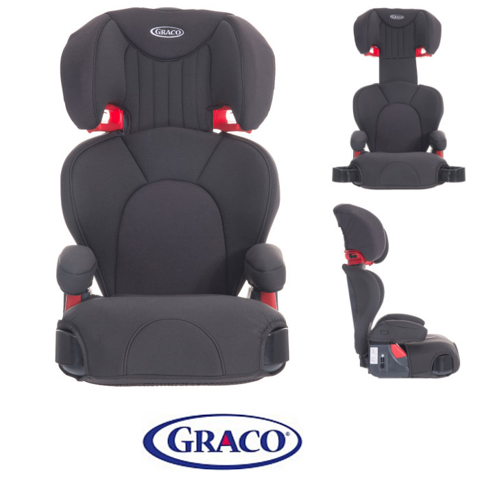 Graco Logico L Group 2-3 Car Seat Booster Seat - Midnight Grey