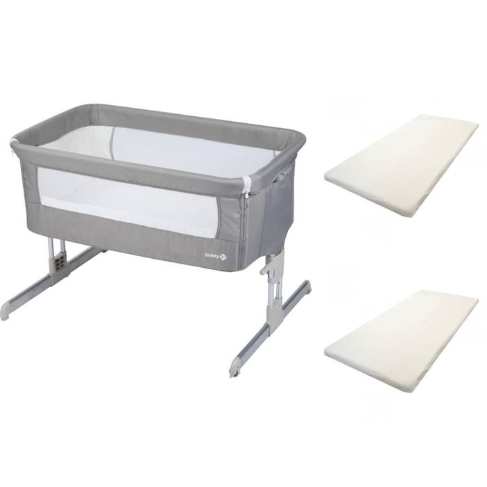Safety 1st Calidoo Bedside Crib & Sheets Bundle