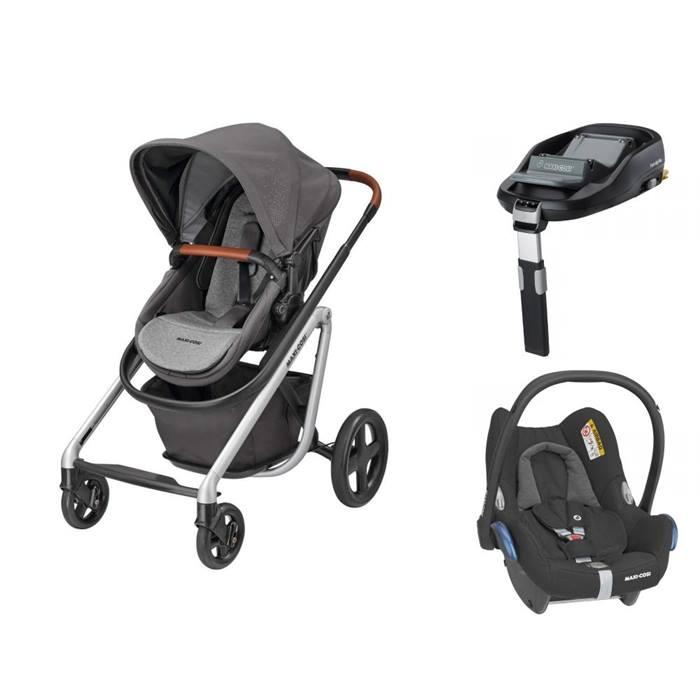 Maxi-Cosi Lila Cabriofix Familyfix Travel System (Nomad Grey)