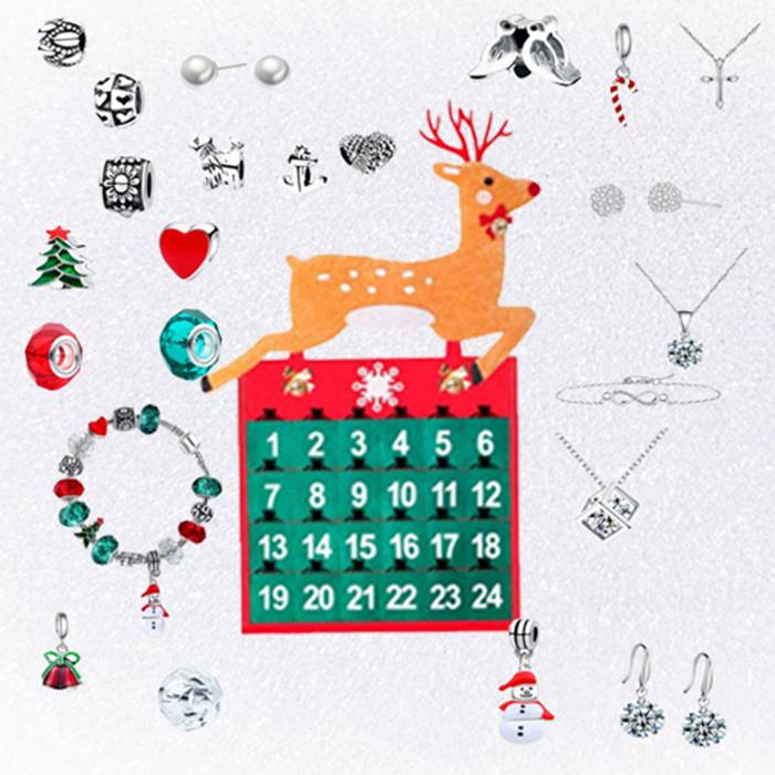 24-Day Jewellery Advent Calendar with Gifts made with Crystals from Swarovski - 3 Designs