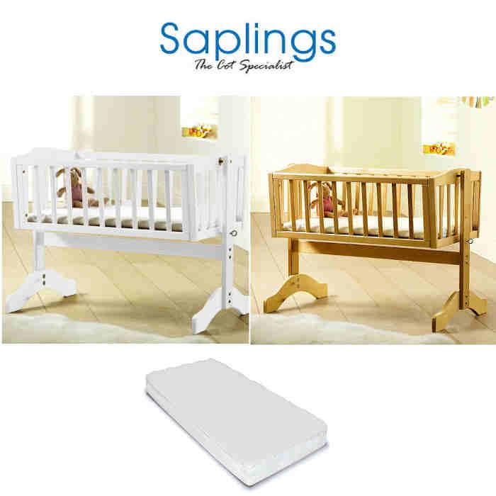 Saplings Luxury Bethany Swinging Crib With Mattress