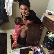 Breastfeeding selfie