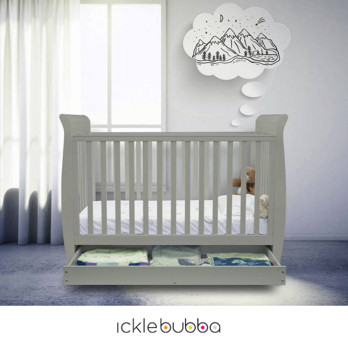 Ickle Bubba Luna 3 In 1 Cot Bed With Storage Drawer