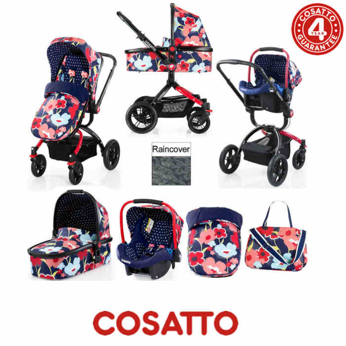 Cosatto Ooba 3 in 1 Combi Travel System - Proper Poppy