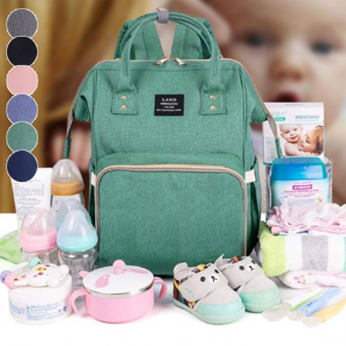 Baby Changing Backpack With Insulated Pockets - 6 Colours