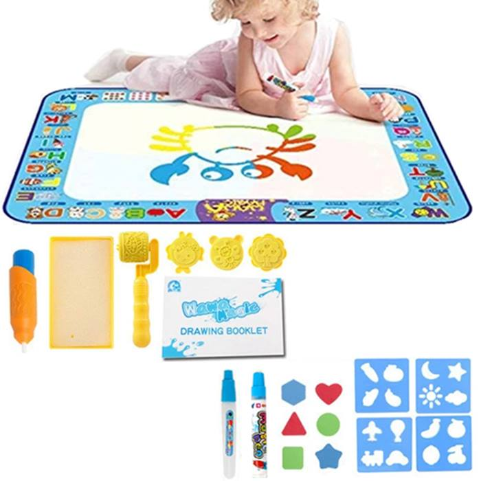 18-Piece Magic Water Doodle Mat & Pens