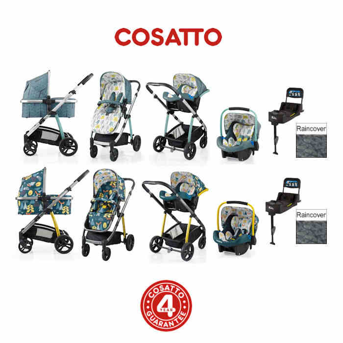 Cosatto Wow 3 in 1 Combi Travel System With Isofix Base