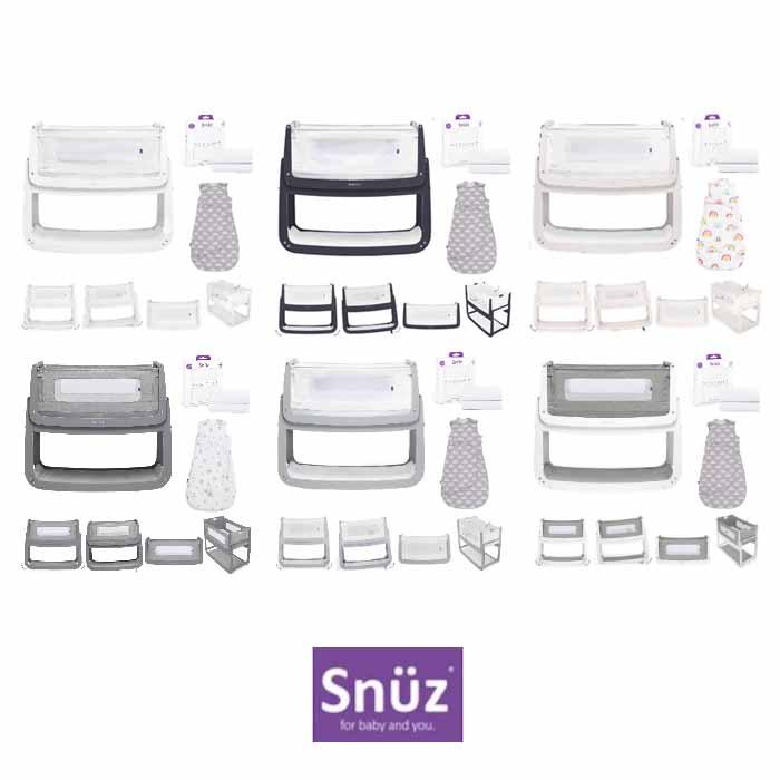 Snuz SnuzPod4 3 Piece Bedside Crib Bundle