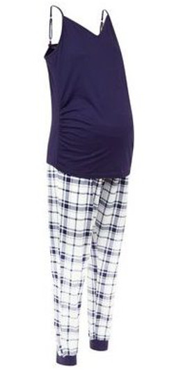 New look Maternity Blue Check Pyjama Set