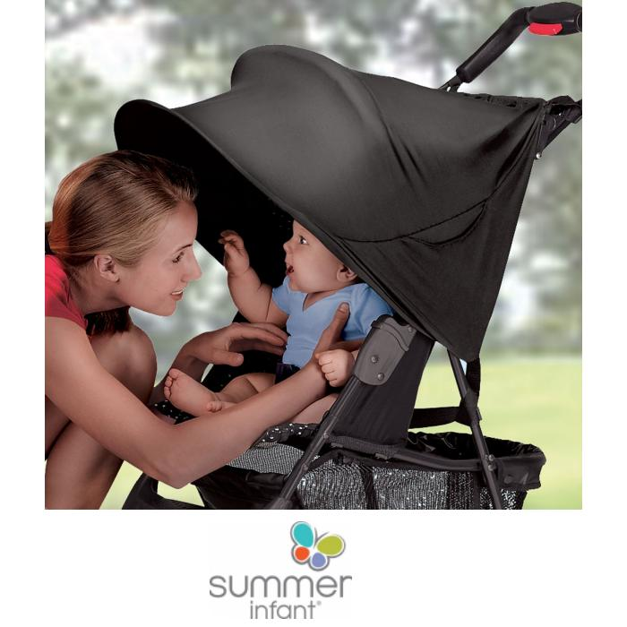 Summer Infant Universal RayShade UPF50 Sun Protector Canopy Extension Single Black