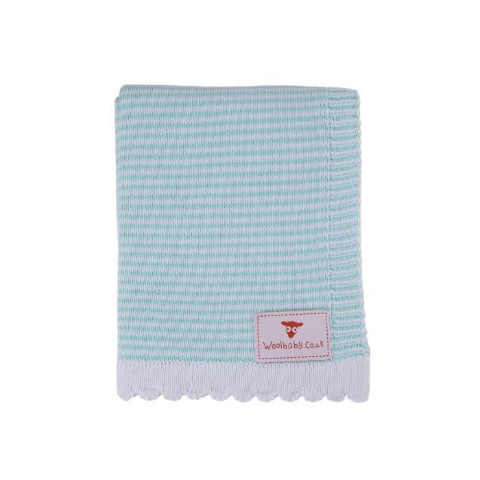 Mint-Stripe-Baby-Blanket