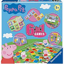 Ravensburger Peppa Pig 6 in 1 Games Set 222