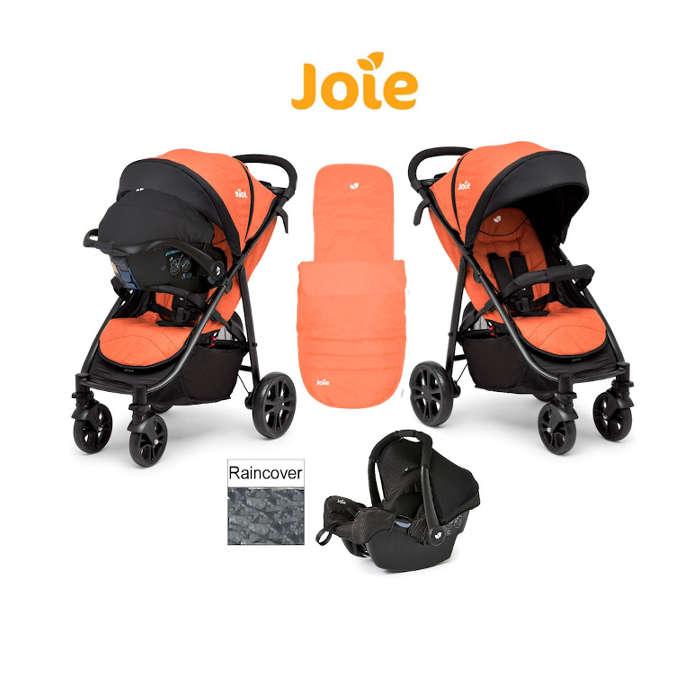 Joie Litetrax 4 Wheel Travel System - Rust
