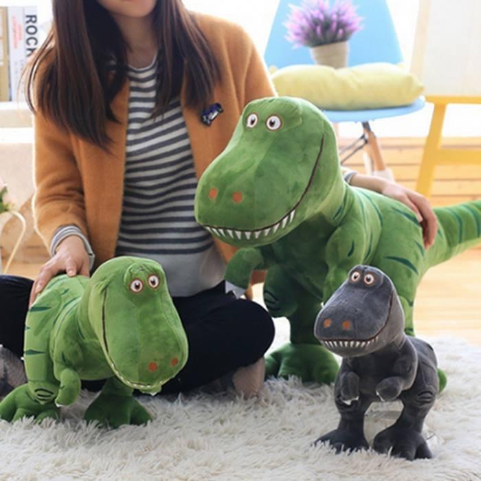 40cm or 50cm Plush Dinosaur Toy - 2 Colours