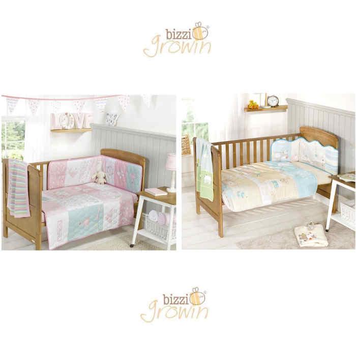 Bizzi Growin Deluxe 4 Piece Cot  Cot Bed Bedding Bale