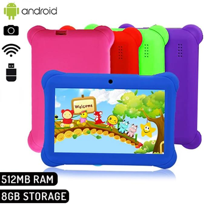 Play-Tab 7-Inch Android Kids Tablet 8GB - 8 Colours
