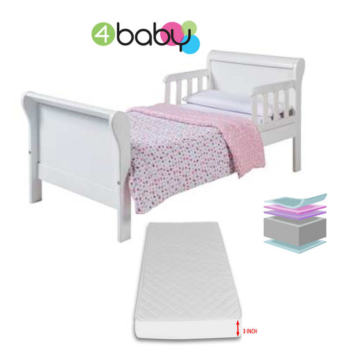 4baby Sleigh Junior Toddler Bed  Fibre