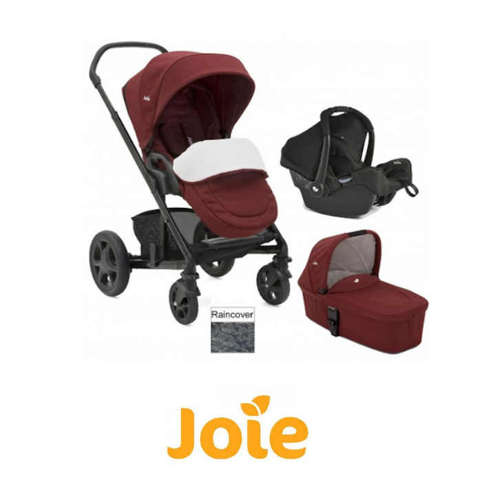 Joie Chrome DLX Gemm Travel System  Carrycot inc Footmuff
