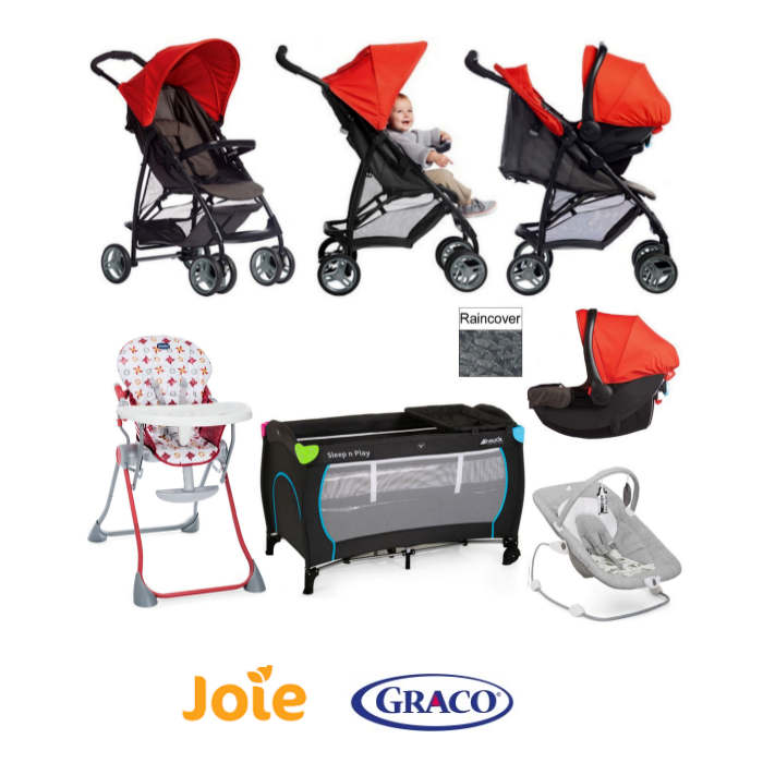 Graco - Joie Literider LX Everything You Need Travel System Bundle