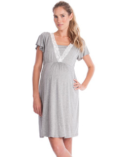 Seraphine Grey Marl Crossover Maternity & Nursing Nightie