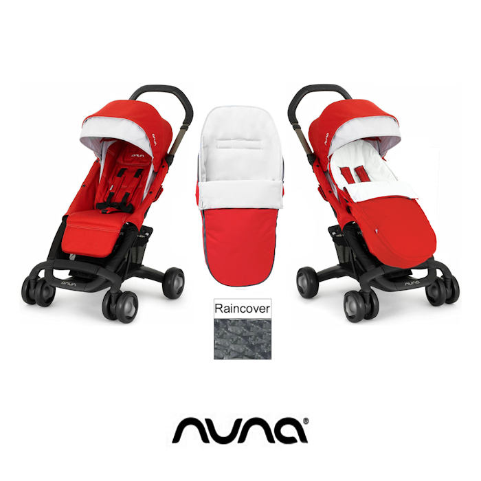 Nuna Pepp Luxx Pushchair With Footmuff - Scarlet