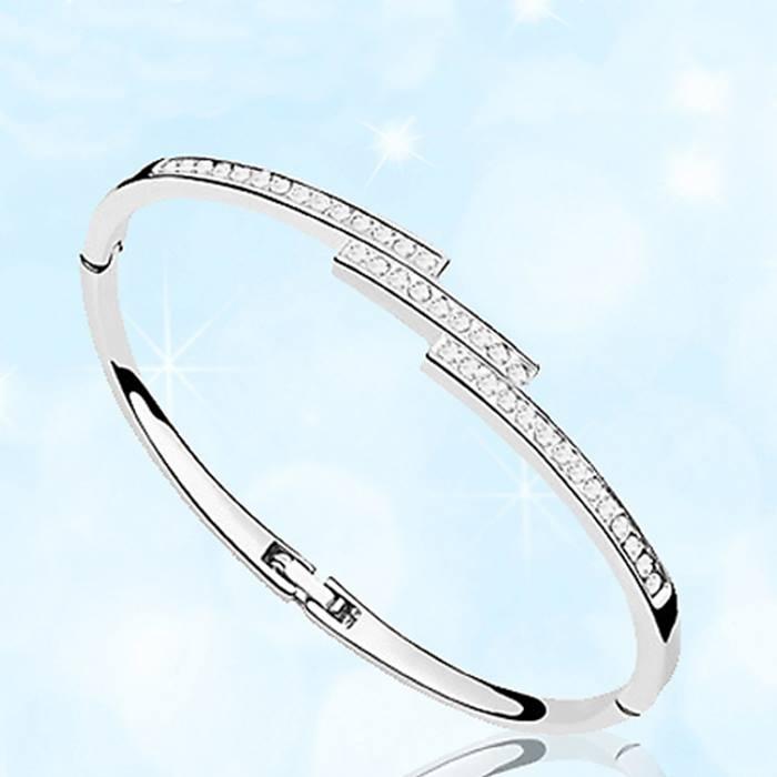 Swarovski Elements Triple Crystal Row Bracelet - 1 or 2