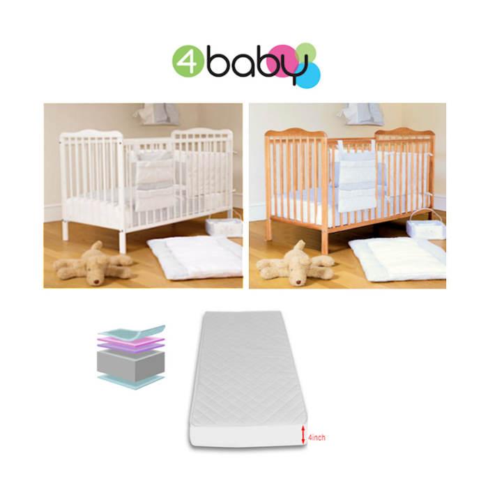 4baby Eva Cot  Fibre Mattress