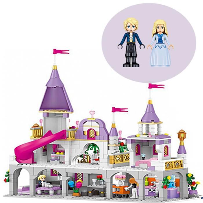 731-Piece Fairytale Princess Castle Building Blocks Set