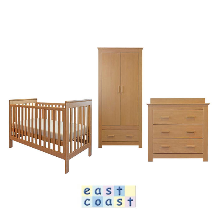 East Coast Blickling 5 Piece Nursery Furniture Room Set with Deluxe Eco Fibre Mattress