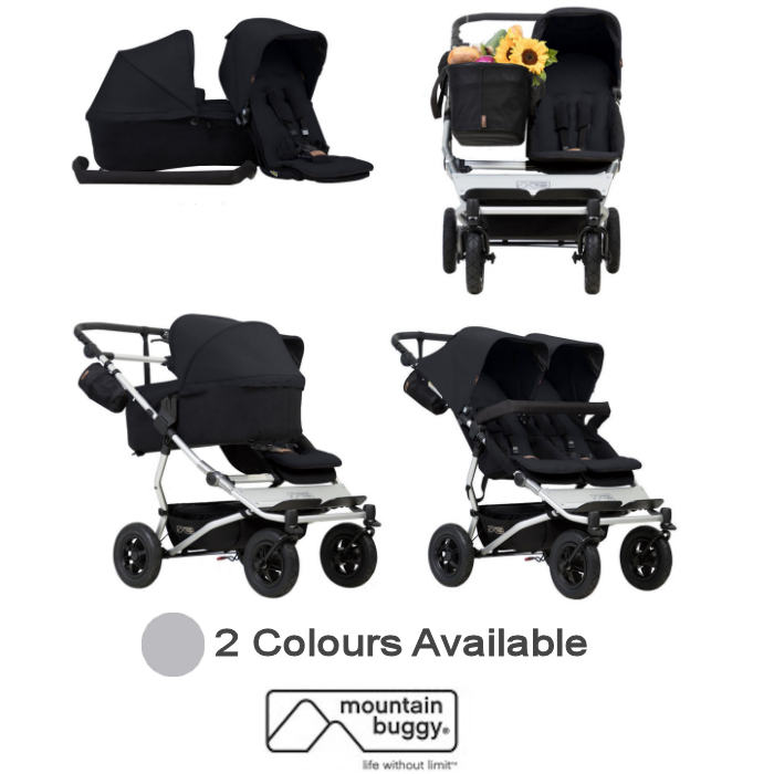 Mountain Buggy Duet V3 Single / Twin Pushchair With Family Pack
