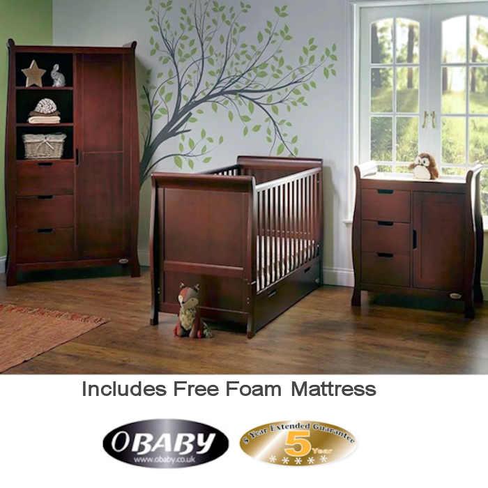 Obaby Stamford Classic Sleigh 3 Piece Room Set
